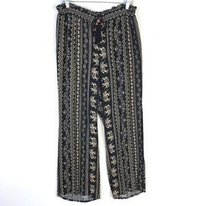 Soft Surroundings Crepe Printed Casual Pants #538